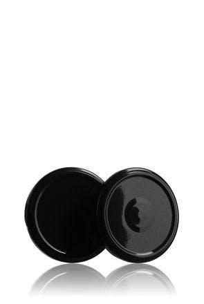 Couvercle TO 63 Noir Sterilisation con boton  MetaIMGFr Tapas de cierre