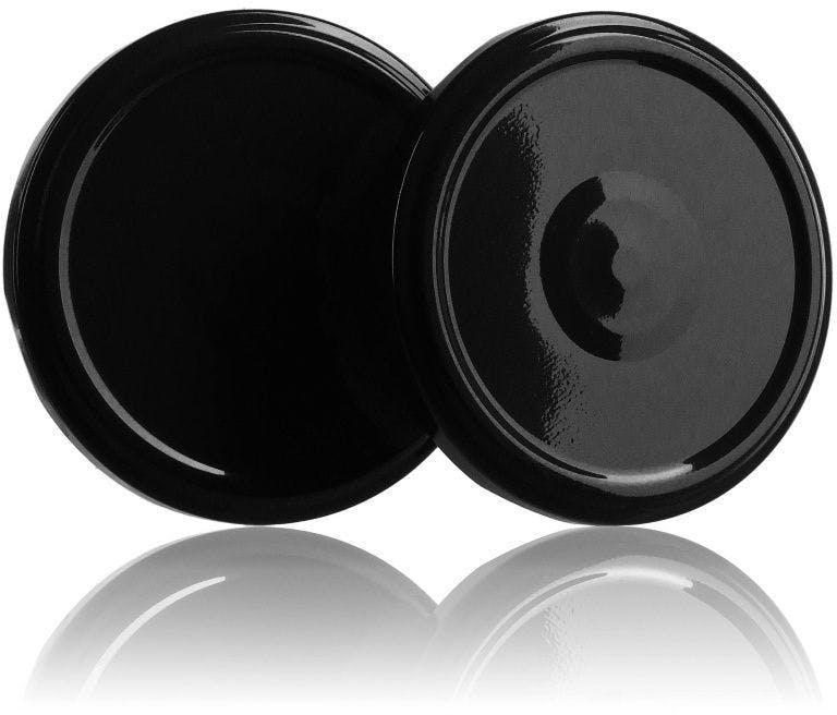 Tampa TO 63 Preto Esterilización con boton  Sistemas de fecho Tampas