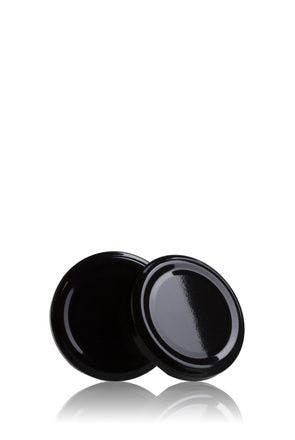 Couvercle TO 63 Noir Pasteurisation sans bouton  MetaIMGFr Tapas de cierre