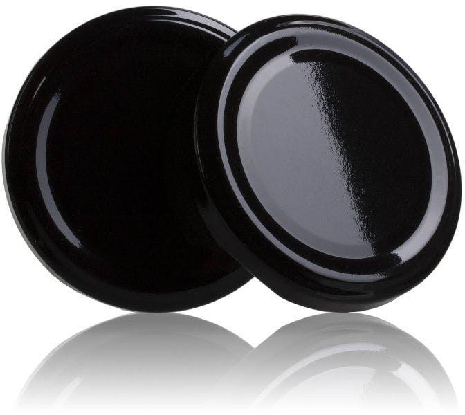 Couvercle TO 66 Noir Pasteurisation sans bouton  MetaIMGFr Tapas de cierre