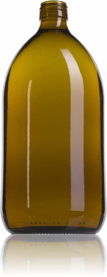 Topacio 1000 ML PP28 Embalagens para laboratório e farmácia Garrafas frascos de vidro cristal para laboratório