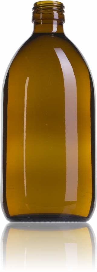 Topacio 500 ML PP28-envases-para-laboratorio-y-farmacia-botellas-frascos-de-vidrio-cristal-para-laboratorio