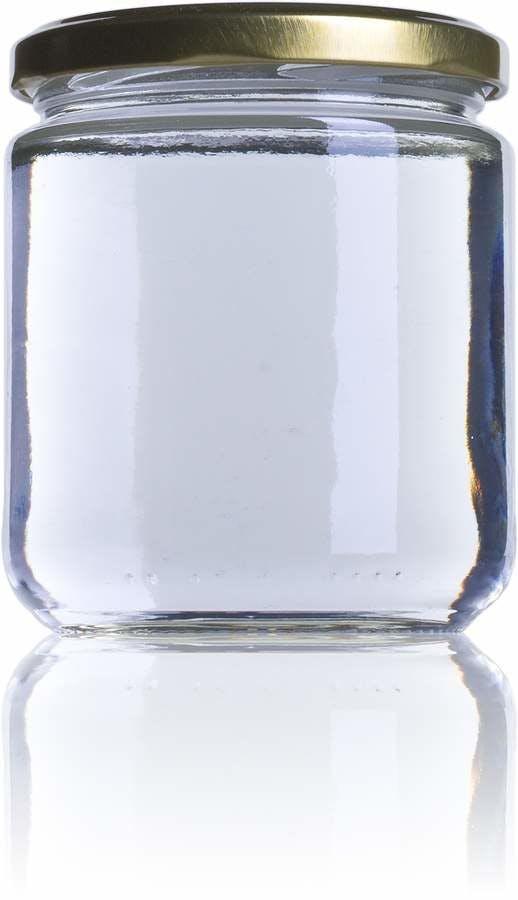 V 370 370ml TO 077 Embalagens de vidro Boioes frascos e potes de vidro para alimentaçao