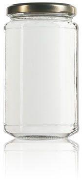 Frasco de vidro cilíndrico 398 ml TO 066