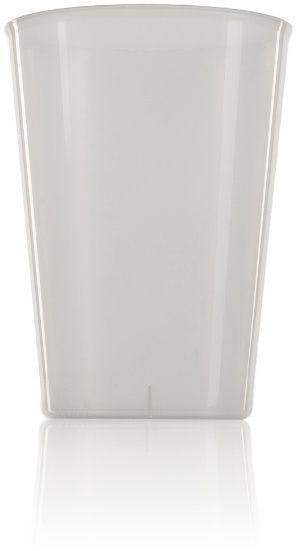 Vaso de plástico PP ancho sidra 600 ml