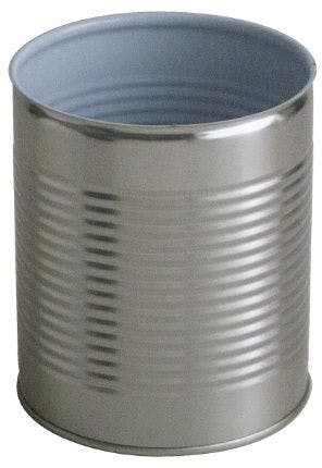 Cylindrical metal tin 1 Kg 850 ml Colorless / Porcelain easy opening