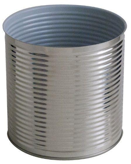 Cylindrical metal tin 3 Kg 2650 ml Colorless / Porcelain standard