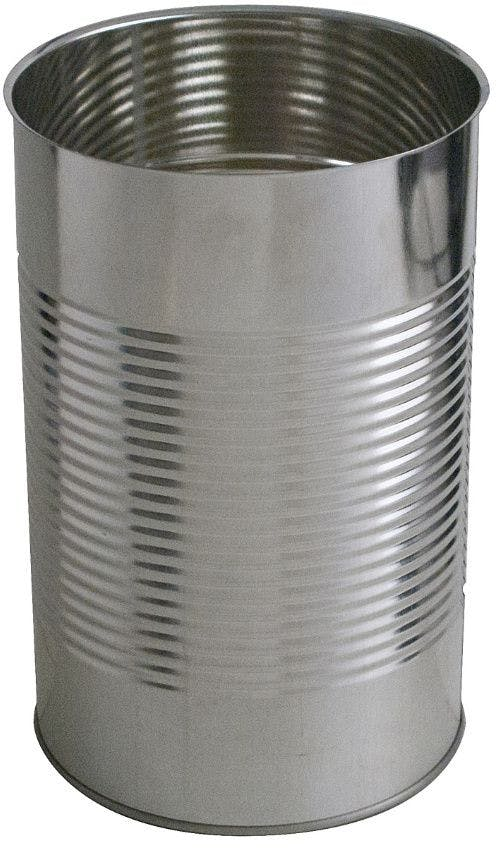 Cylindrical metal tin 5 Kg 4340 ml Colorless / Porcelain standard