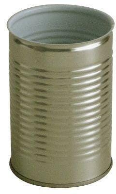 Lata metálica cilíndrica 1/2 Kg 425 ml Oro / Porcelana fácil apertura