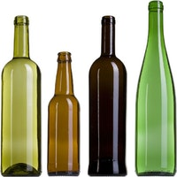All glass bottles