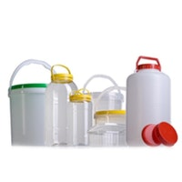 Pet plastic bottles, jars and cans