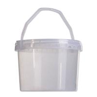 Cubos de plástico con tapa